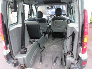 Removable driver  seat allow driving from the car seat or wheelchair.